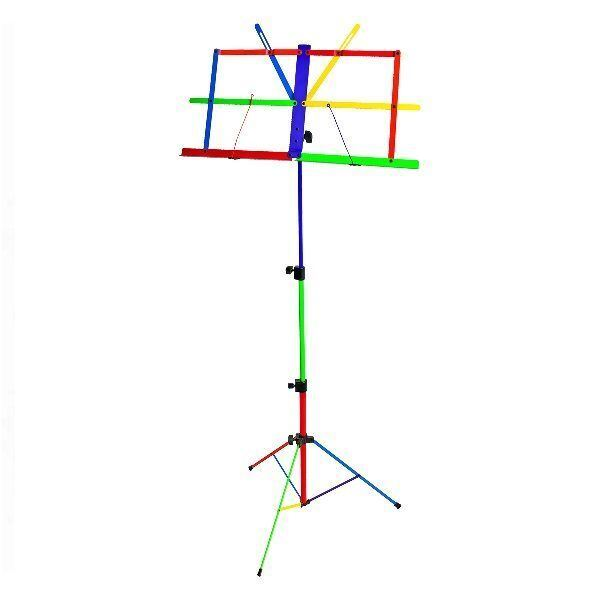 Xtreme MS109H Fold Up Music Stand Harlequin Design Rainbow Colours
