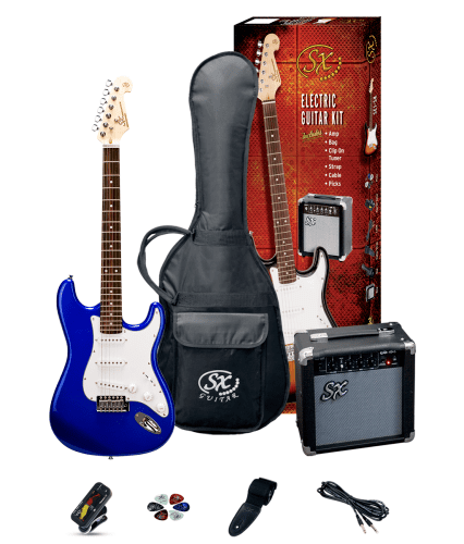 Essex SE1SKEB Electric Guitar Pack - Blue