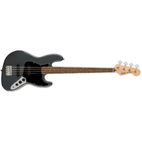 Fender Squier Affinity Series Jazz Bass, Laurel Fingerboard, Black Pickguard, Charcoal Frost Metallic