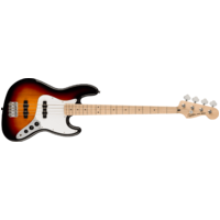 Fender Squier Affinity Series Jazz Bass, Maple Fingerboard, White Pickguard, 3-Color Sunburst
