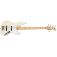 Fender Squier Affinity Series Jazz Bass V, Maple Fingerboard, White Pickguard, Olympic White