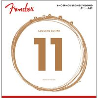 Fender Phosphor Bronze Acoustic Guitar Strings, Ball End, 60CL .011-.052