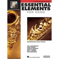 Essential Elements for Band Eb Alto Saxophone - Book 2 with EEi