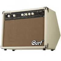 CORT AF30 AUS 30 WATT ACOUSTIC GUITAR AMPLIFIER IVORY