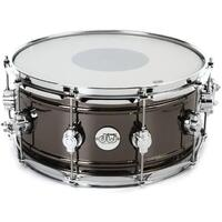 DW Design Series Black Nickel over Brass Snare Drum 14x6.5