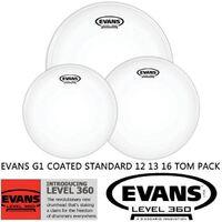 Evans ETP-G1CTD-S G1 Coated Standard Size Tom Pack 12 13 16