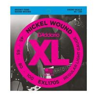 D'Addario EXL170S Nickel Light 45-100 Short Scale Bass Strings