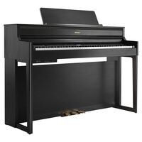 Roland HP704CH Digital Piano w/ Matching Bench - Charcoal