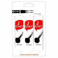 Juno JCR312/3 Bass Clarinet Traditional Reeds Strength 2 Card of 3 Reeds