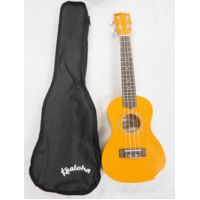 Kealoha KUK23ORANGE Concert Ukulele w/ Bag