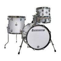 Ludwig Breakbeats by Questlove Compact 4-Piece Shell Pack White Sparkle
