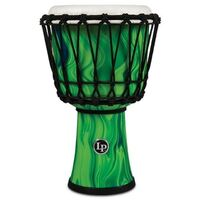 "LP Percussion 7"" Rope Tuned Circle Djembe w/ Perfect-Pitch Head Green Marble"