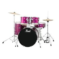 "Pearl Roadshow 20"" 5 Piece Fusion Drum Kit with Hardware and Cymbals Pink Metallic"
