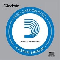 D'Addario PL011 Single Plain Steel