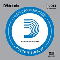 D'Addario PL014 Plain Steel Guitar Single String .014
