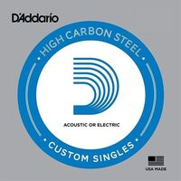 D'Addario PL022 Plain Steel Guitar Single String