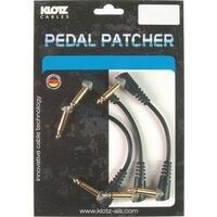 KLOTZ 90CM 3 PACK PATCH CABLES R/ANGLE
