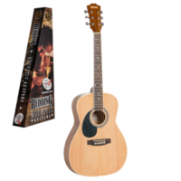 REDDING   ¾ SIZE  LEFT HAND  DREADNOUGHT ACOUSTIC GUITAR