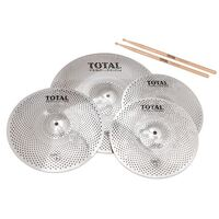 Total Percussion SRC50 14-16-20 Sound Reduction Cymbal Set