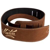 Maton Deluxe Soft Leather Strap Brown