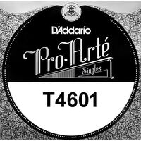 D'Addario T4601 Titanium - 1st string hard tension .0285